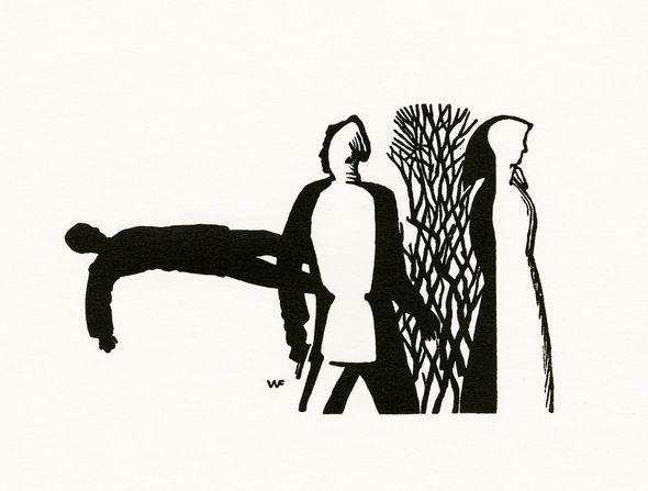 Черно-белая графика знаменитых художников, фото № 48