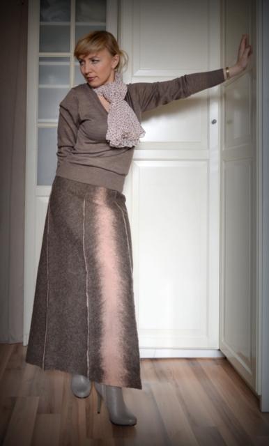 юбка из войлока