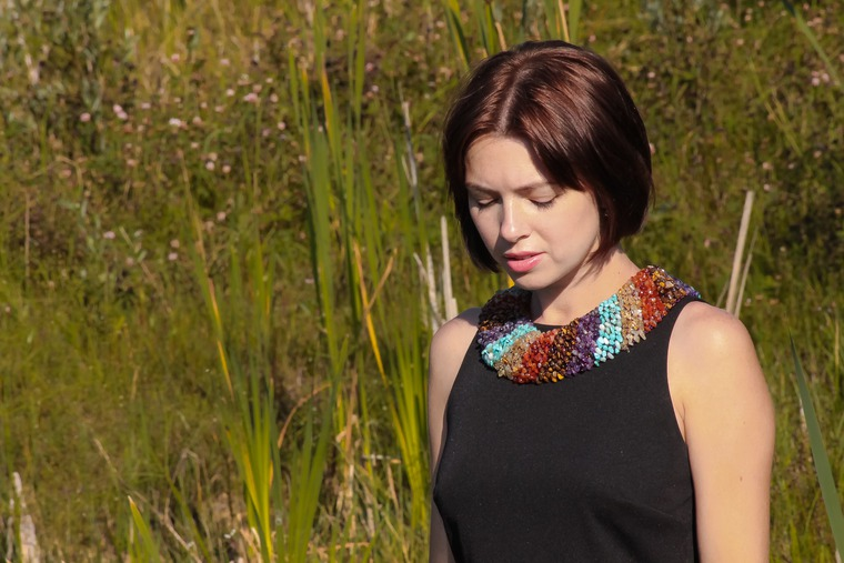 яркое украшение, ожерелья, подарок женщине, стильные украшения