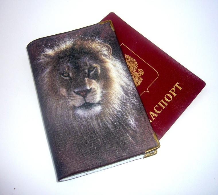 обложка для паспорта, лео