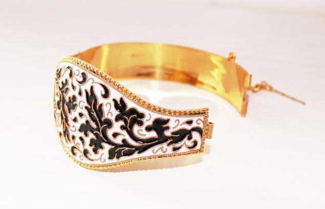 новинки магазина, браслет с эмалью, эмаль, позолота, серебряный браслет, украшение из золота, золото, акция магазина, браслет ручной работы, восточный стиль