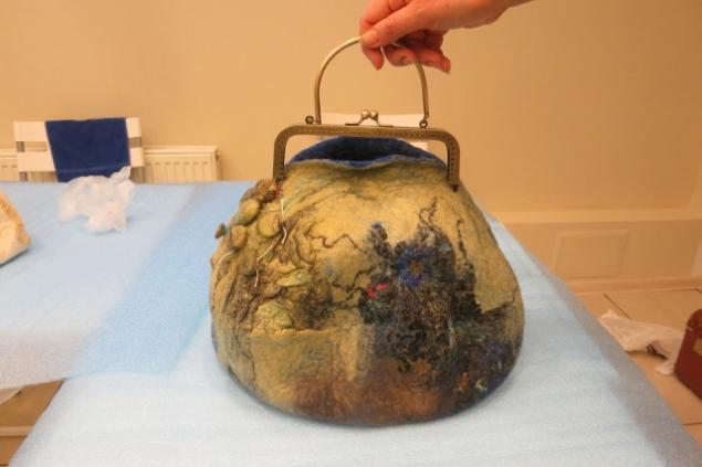 Фотоотчет по валянию сумки с мастером Ириной Бобковой., фото № 29