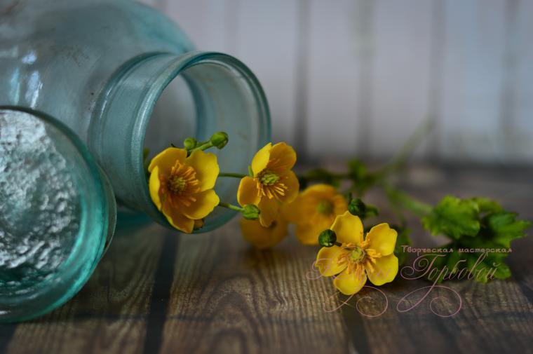 лютик, цветы ручной работы