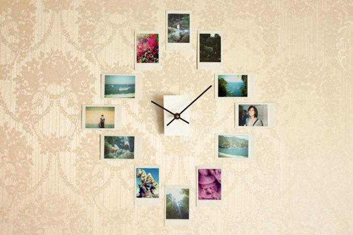 моя часы из фотографий на стену своими руками тогда