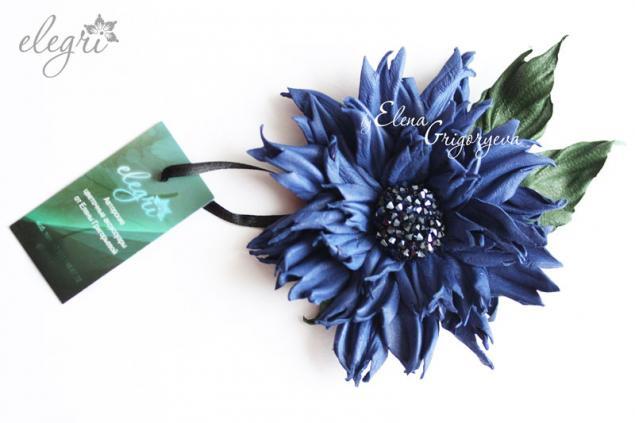 василек синий, обучение цветоделию, мастер-класс цветы, василек обучение, кожаный цветы, авторские цветы, цветок авторский, обучение по цветам, цветоделие, синий цветок