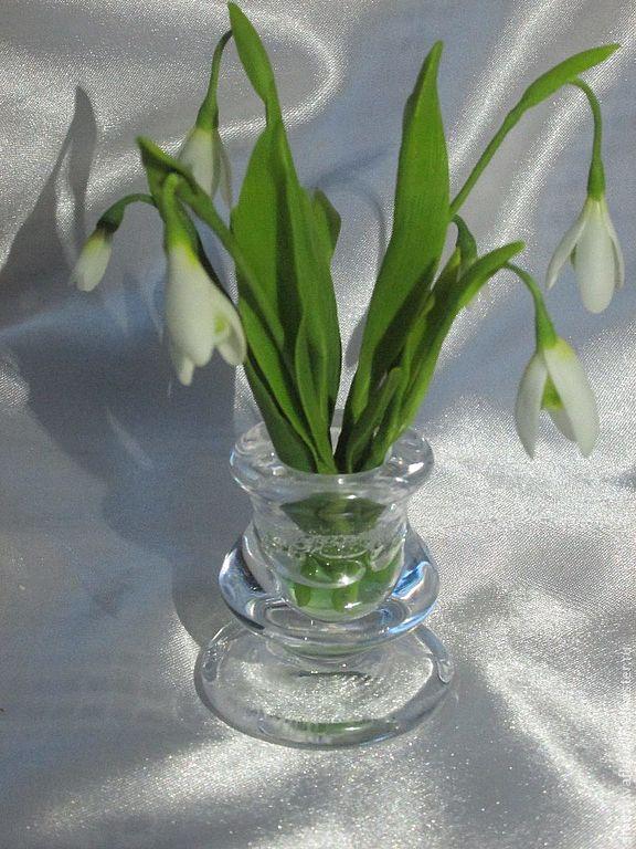 Новинка нашей студии - керамическая флористика (цветы из холодного фарфора) -Подснежники!, фото № 1