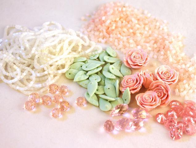 кулон с розой, кулон на проволоке, авторская техника