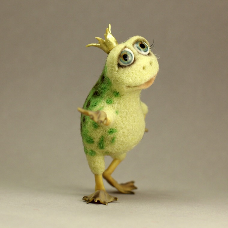 валяная игрушка, царевна-лягушка