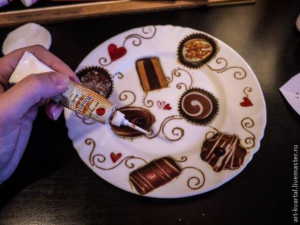 Сладкий декор тарелки, фото № 3
