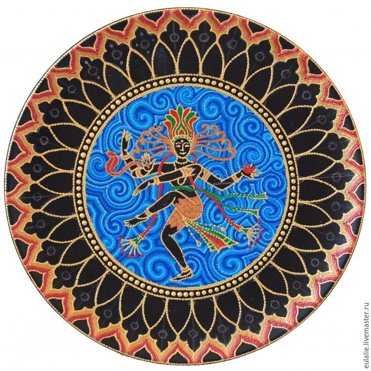 Мастер-класс по точечной росписи: тарелка-панно «танцующий Шива», фото № 15