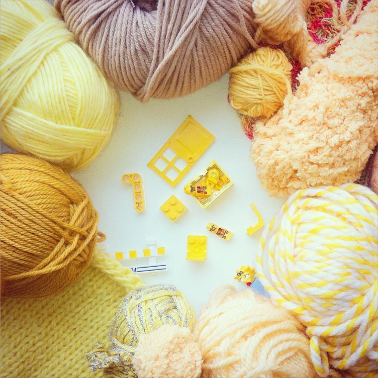 цвет, вязание спицами