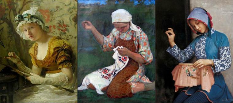 История вышивка гладью
