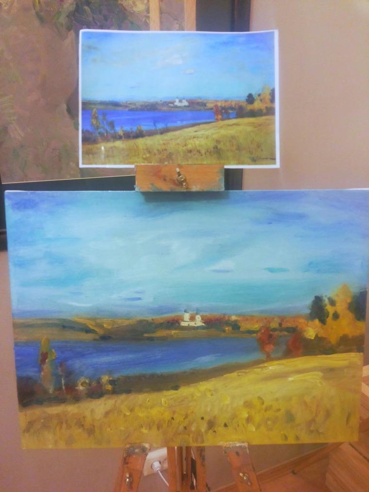 картина маслом, масляная живопись, пейзаж маслом, холст на подрамнике