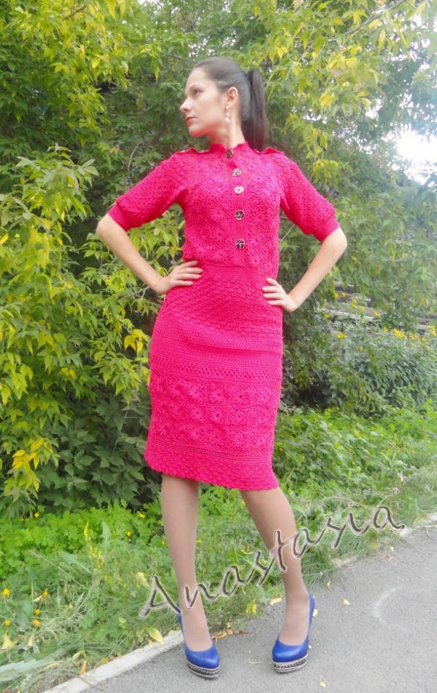 платье вязаное, дебют