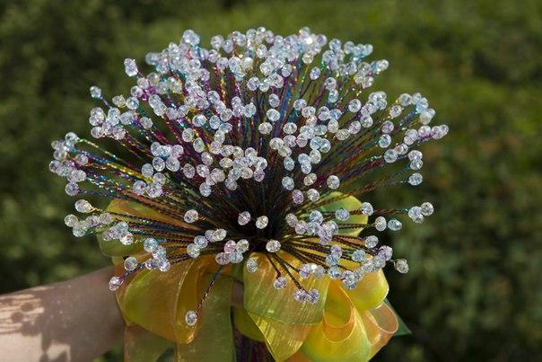 свадьба, букет из кристаллов, wedding