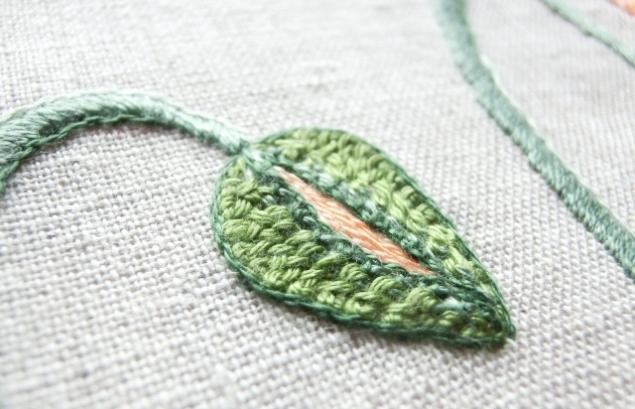 декоративная вышивка, цветочная вышивка