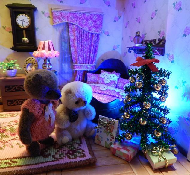 миниатюра, мебель, мишка тедди, кукольный дом, сказка