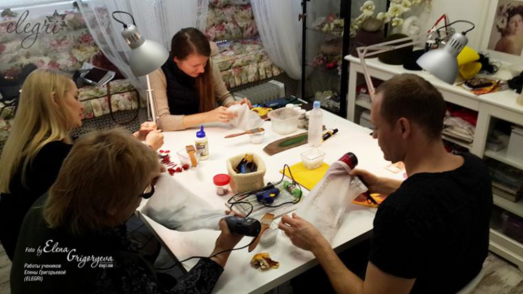 обучение цветоделию, заказать розу, elena grigoryeva, розы из кожи