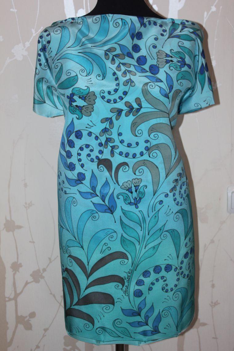 батик, блуза, русский сувенир, хохлома