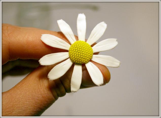 Ромашка из полимерной глины своими руками мастер класс