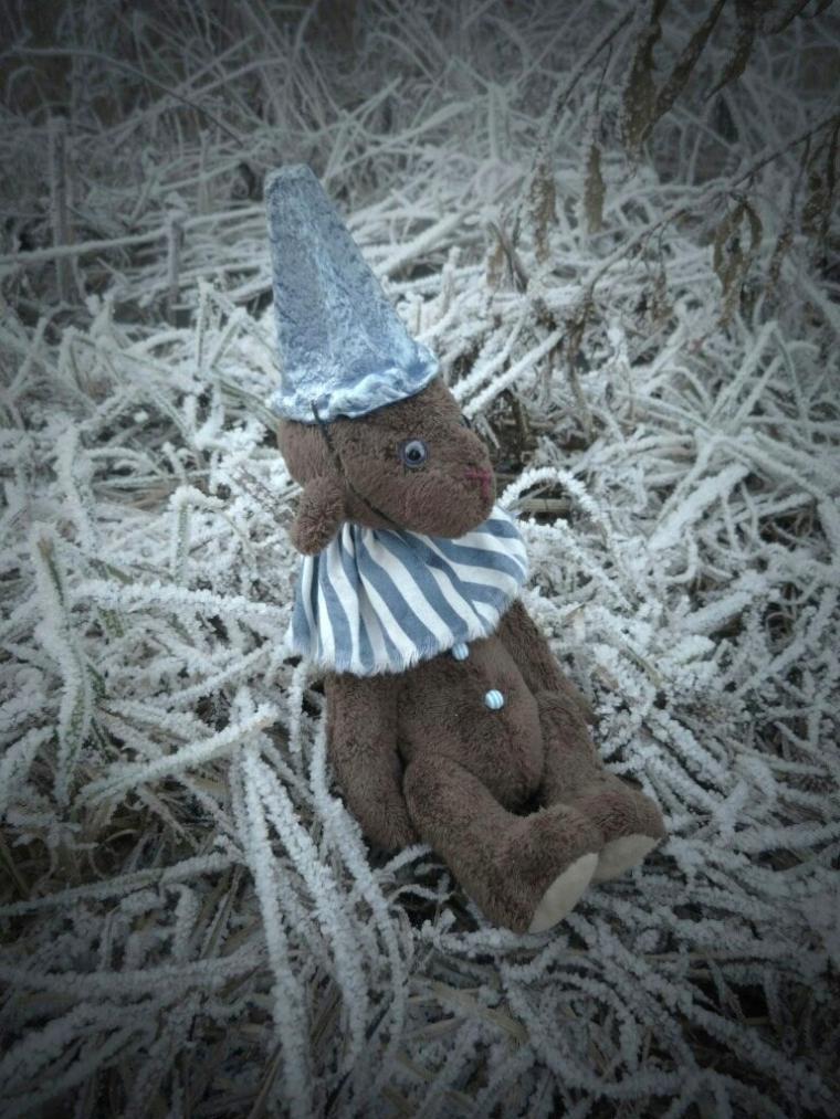 мишка ручной работы, новый год