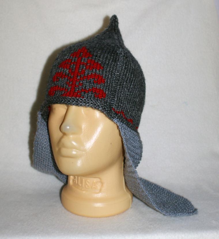 шлем, обереги, вязаный