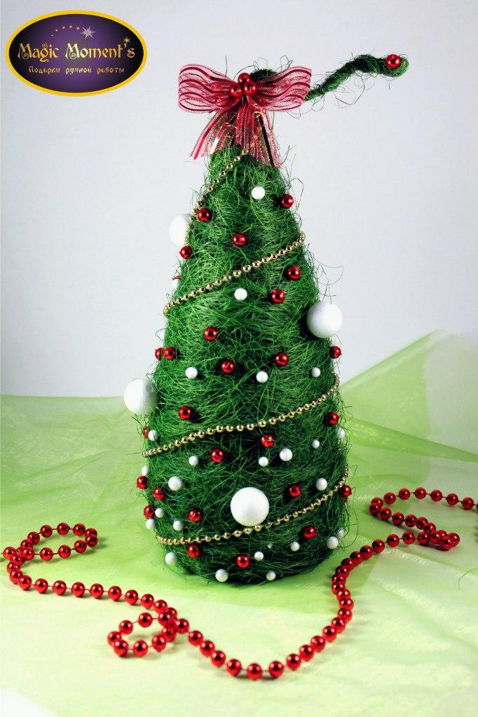 мастер класс, мастер класс по елочке, подарок на новый год, украшение интерьера, интерьерная композиция, елка