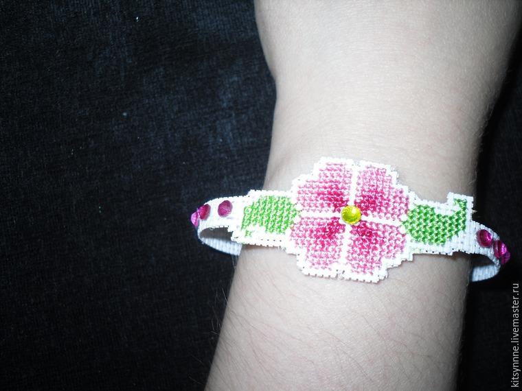 Как сделать браслет с вышивкой «Весеннее настроение», фото № 14