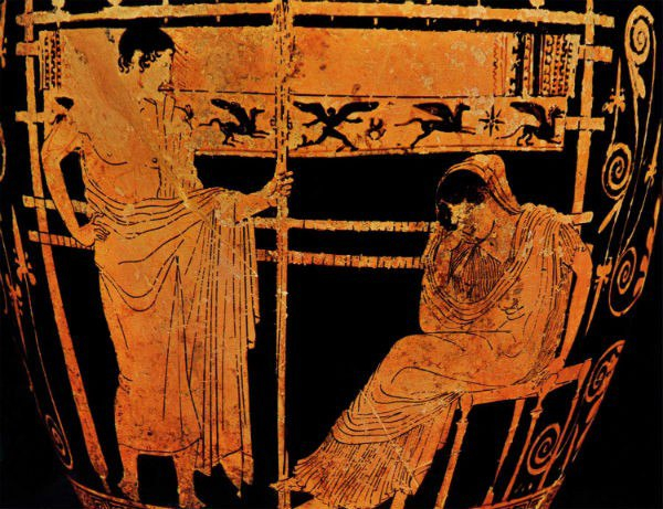 the background of conflicts between telemachus and penelope in the odyssey
