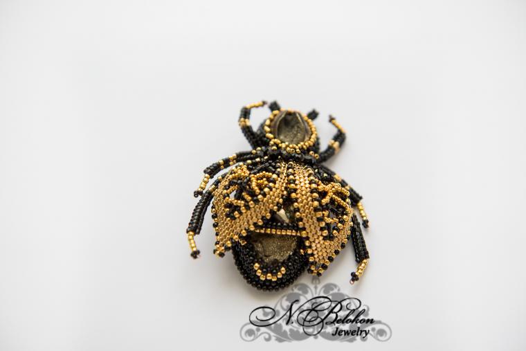 насекомые, золотой бисер
