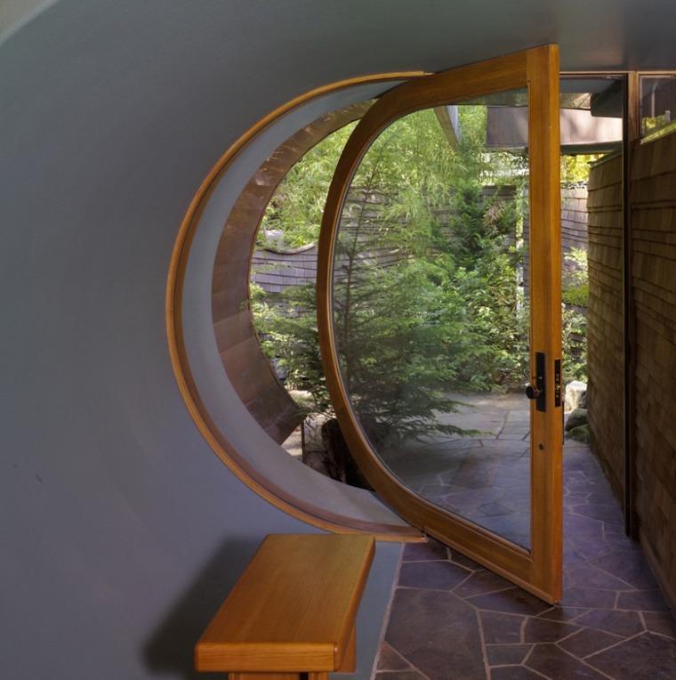 Круглые двери межкомнатные фото