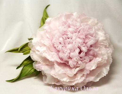 цветы, цветы из ткани, цветы из шелка, цветоделие, обучение цветоделию, мастер класс, курсы, пион