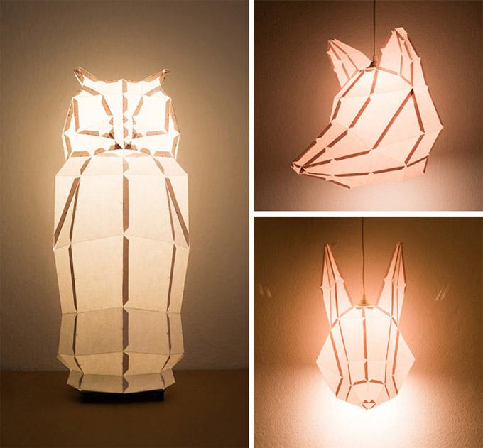 Оригами светильники своими руками