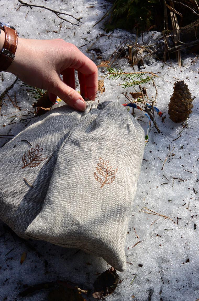 мешочек, упаковка, натуральные материалы, удовольствие, льняные шапки, подарок, комплект