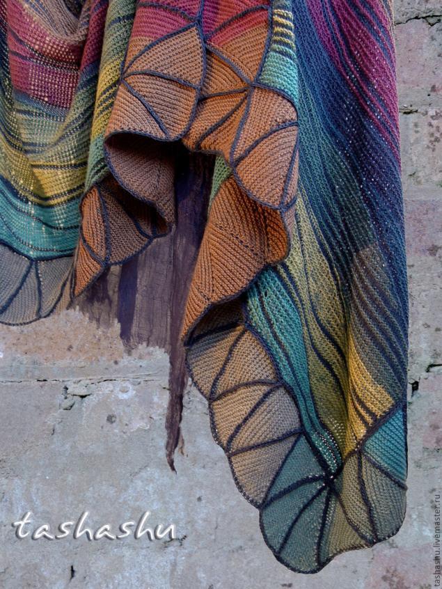 Вяжем волны из остатков пряжи... Светлана Гордон раскрывает секреты своих работ. А туника целиком — вообще восторг полный!