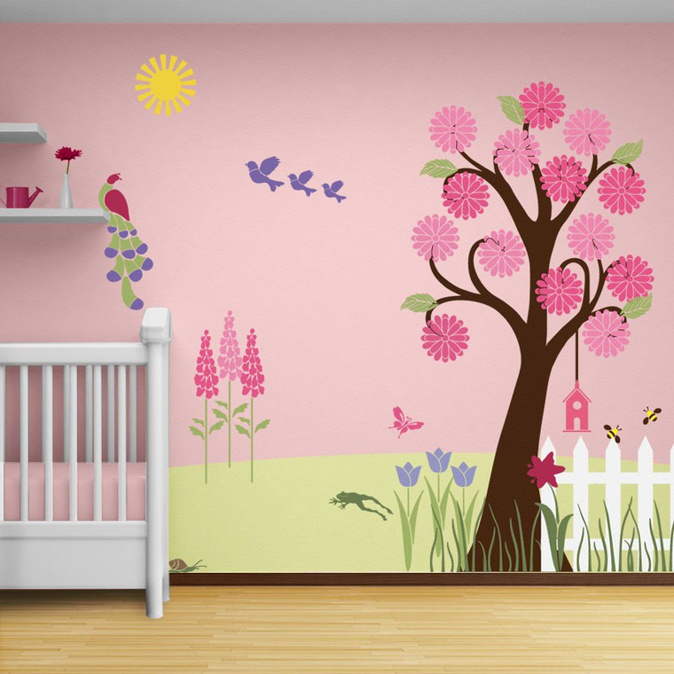 Трафареты в детскую комнату на стену