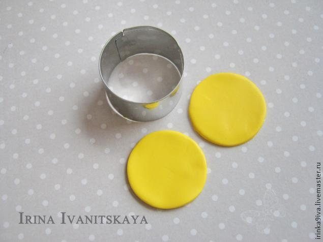 DIY Cheese Earrings of Polymer Clay, фото № 5