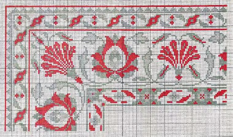 Схемы старинных немецких вышивок 9