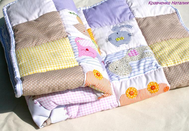 Одеяло с вышивкой своими руками