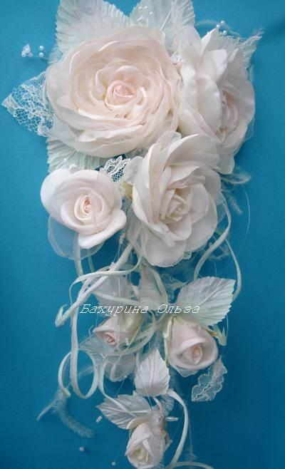 цветы из ткани, обучение цветоделию