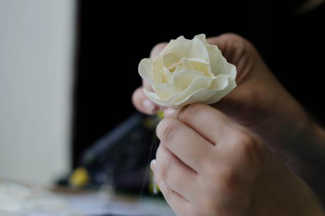 цветы ручной работы, брошь-цветок, хобби, декорирование