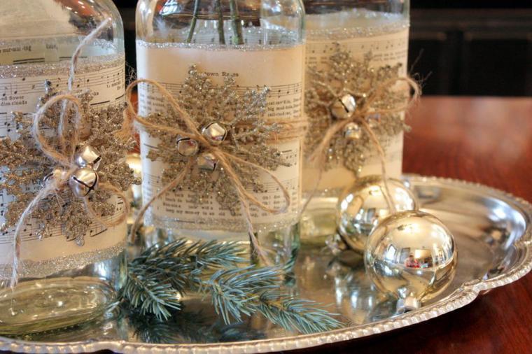 Новогоднее украшение своими руками на столе