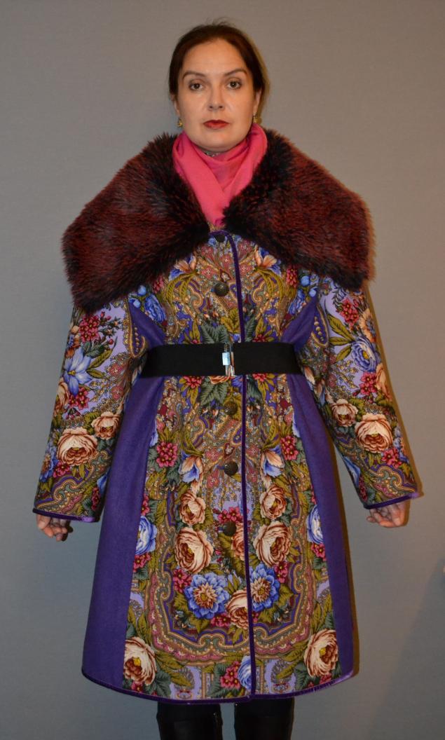 акция -30%, пальто из платка, теплое пальто