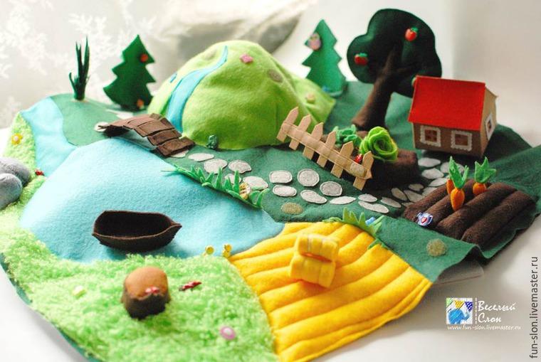 Шьем яркий и реалистичный игровой коврик из фетра, фото № 39