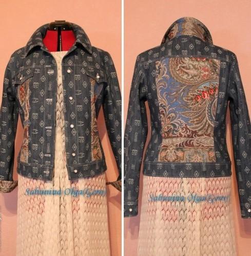 джинсовая куртка, женский жакет