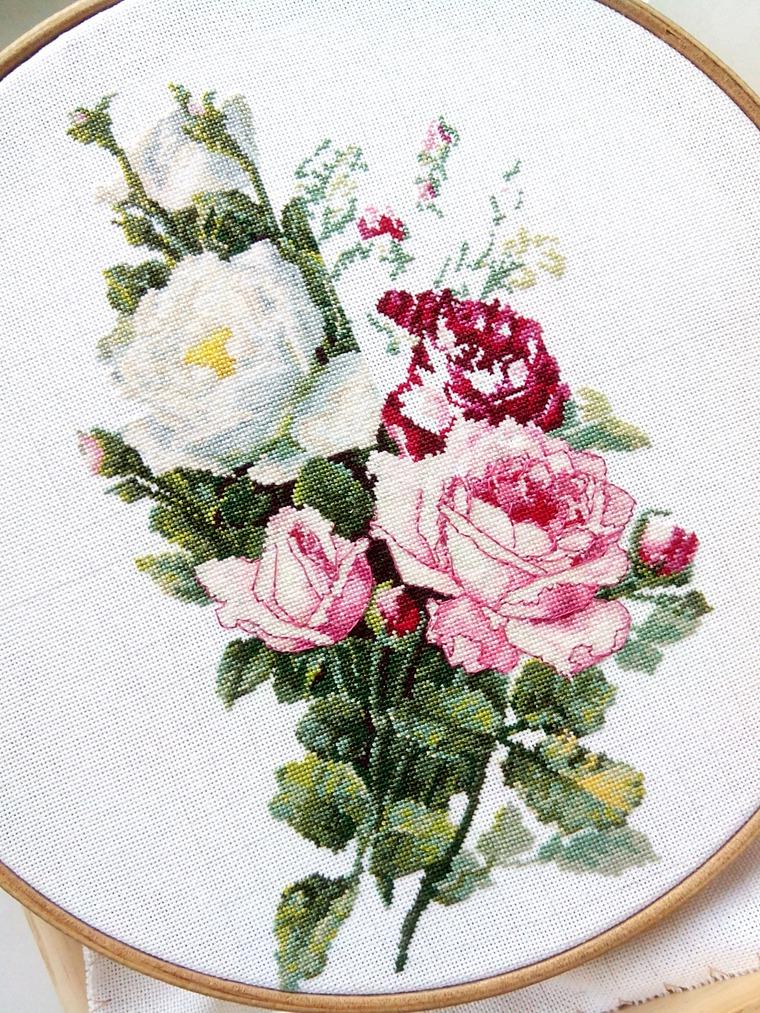 Картины с розами для вышивки 798