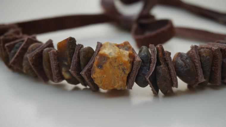 колье, украшения из янтаря