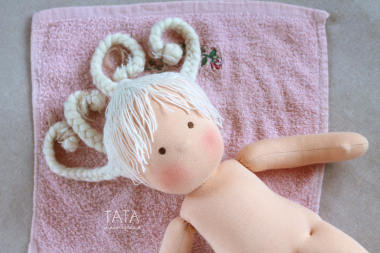 волосы для кукол, волнистые волосы