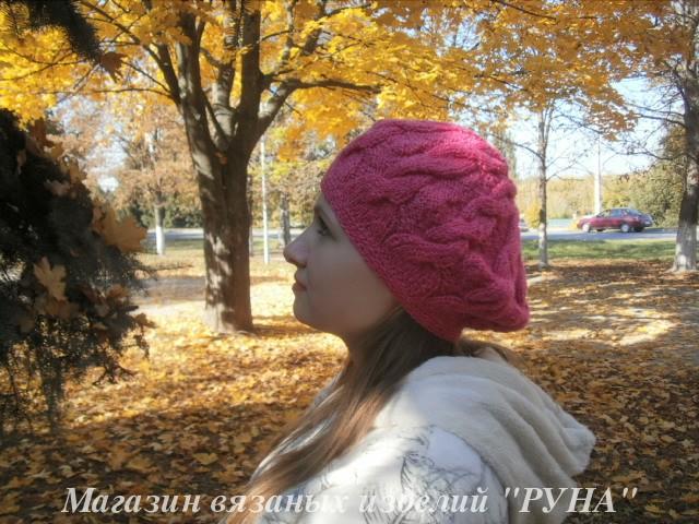 шапка в косах