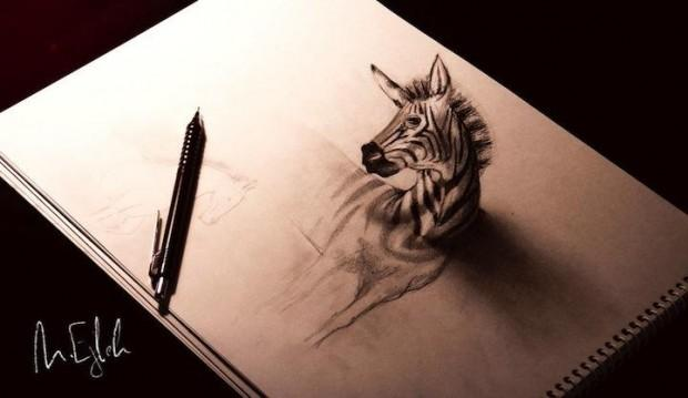 3д рисунки на бумаге карандашом: